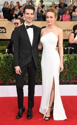 Alex Greenwald and Brie Larson at the 2017 Screen Actors Guild Awards (SGA Awards) Red Carpet on Jan. 29, 2017.