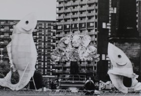 Big fish, Glasgow Lantern Palace, Welfare State International, 1990