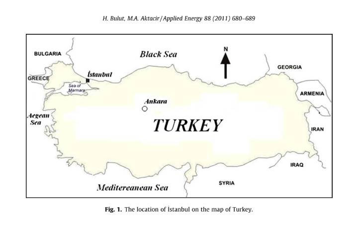 The location of _ Istanbul on the map of Turkey.