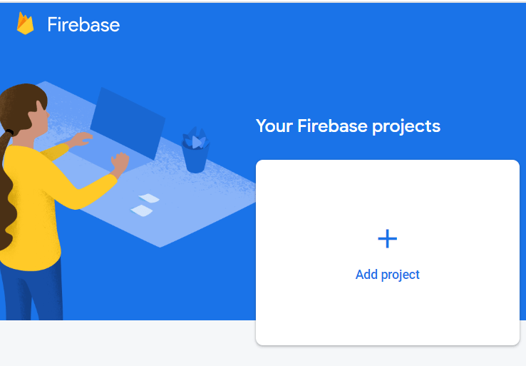 Create Firebase project