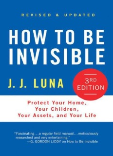 How to be Invisible eBook Download