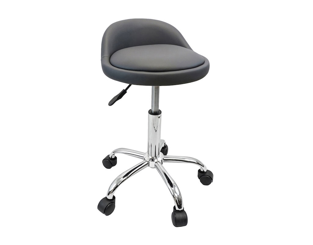 Magnificent Salon Stool With Back Rest Saddle Hydraulic Spa Stool Gray Gmtry Best Dining Table And Chair Ideas Images Gmtryco