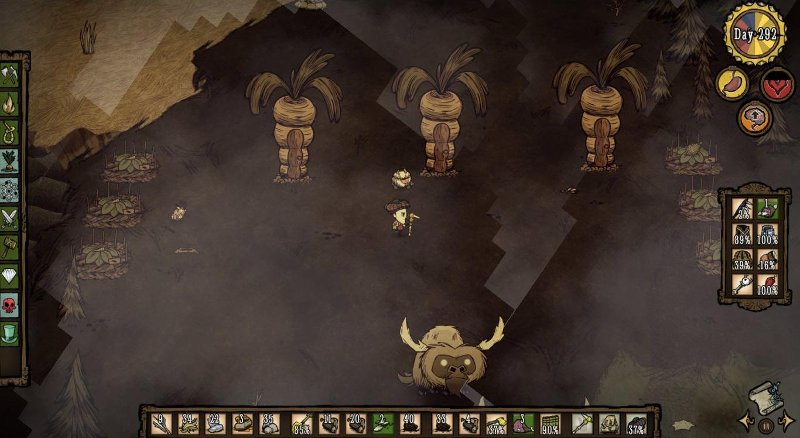 Don't Starve - Aldea de conejos in progress