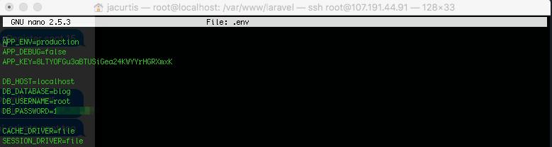Env File with Encryption Key