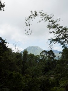 View towards volcano Lokon (Minahasa Highlands, North Sulawesi, Indonesia)