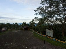 Resting area and view point towards Manado at Tomohon (Sulawesi, Indonesia)