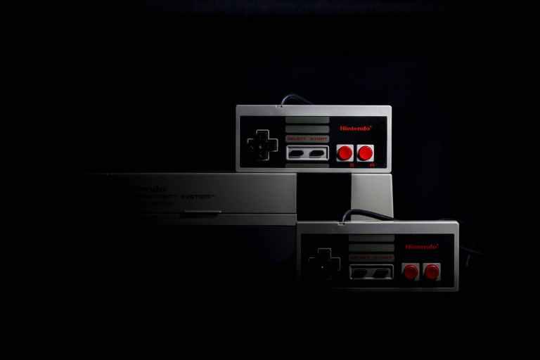 nintendo nes game console set