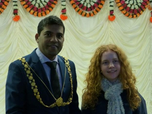 Bristol Mayor Faruk Choudhury & TIFFY member Alice Donnellan