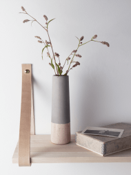 Concrete and Blush Vase