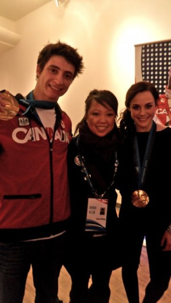 Scott Moir and Tessa Virtue post gold medal win