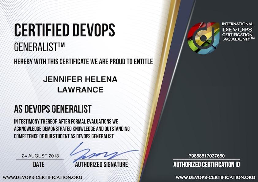 Devops Certification Org Usd 99 Official Devops