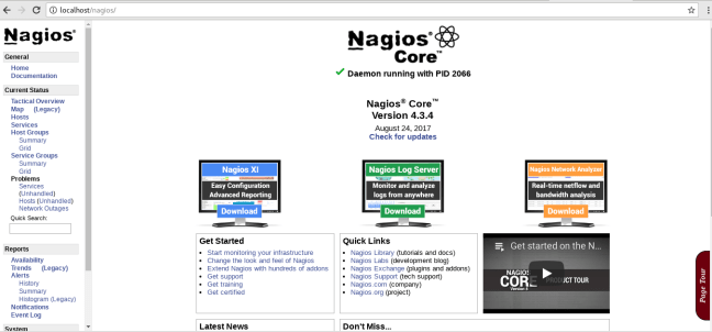 install nagios 4 on centos 7 web dashboard