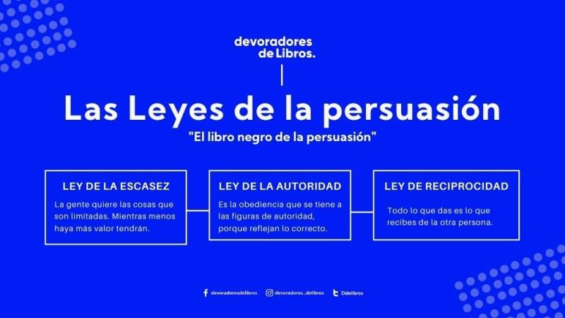 """Leyes de la persuasión Alejandro Llantada """"el Libro negro de la persuasion"""""""