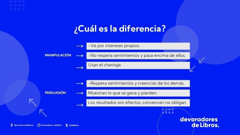 """Diferencia entre manipulación y persuasión Alejandro Llantada """"el Libro negro de la persuasion"""""""