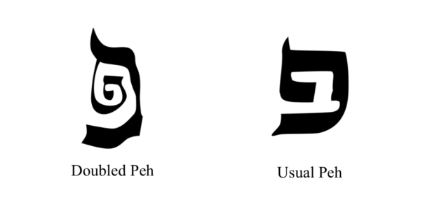 Peh Lefufah (Doubled) and Usual Peh