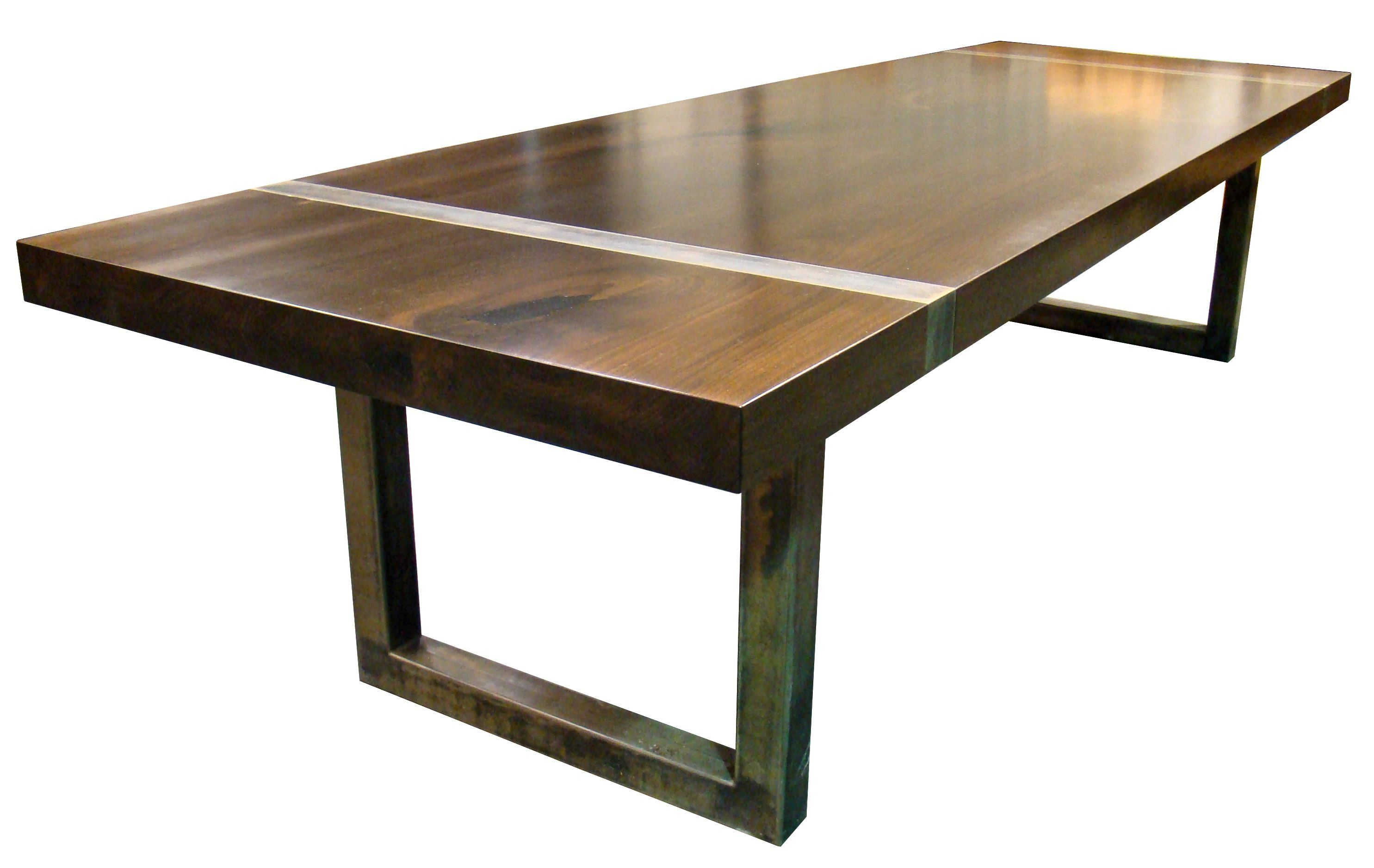 Custom Wood Tables With Metal Bases
