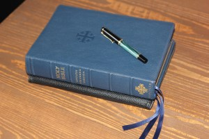 bible with pen on it