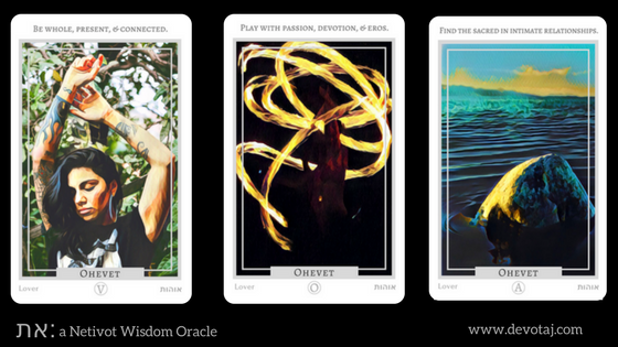 את: a Netivot Wisdom Oracle - Ohevet (Lover) Cards