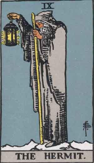 Wait Smith Tarot: Hermit Card