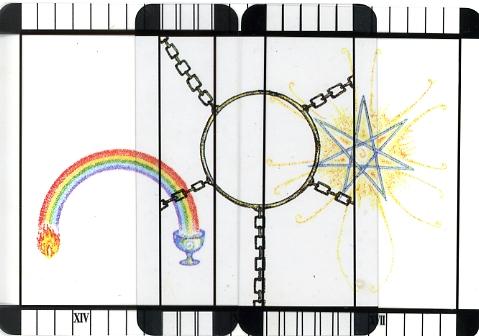 Transparent Tarot - Journey from Kislev (Temperance) to Tevet (Devil) to Shevat (Star)