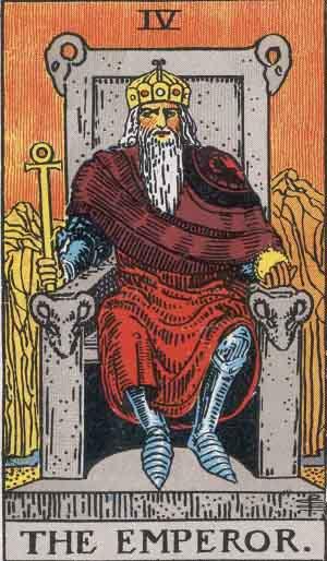 Emperor Card from Smith-Waite Tarot
