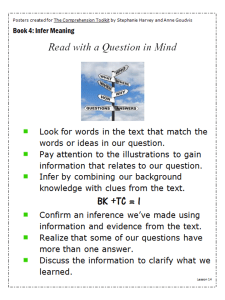 Read with a Question in Mind
