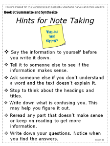 Hints for Note-taking