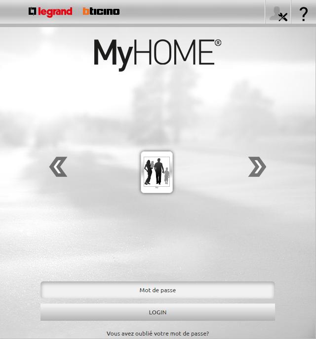 Tableau de bord web MyHome
