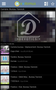 Application mobile eedomus : Sous dashboard