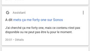 Ok Google, met Sum 41 sur Sonos