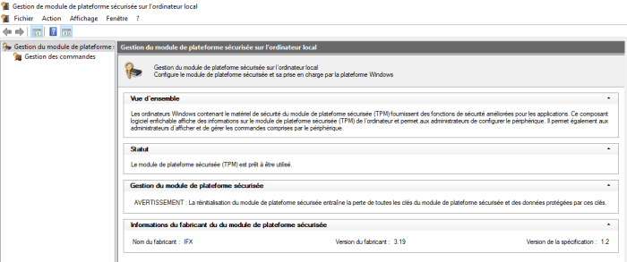 Vérifier votre module TPM sur Windows