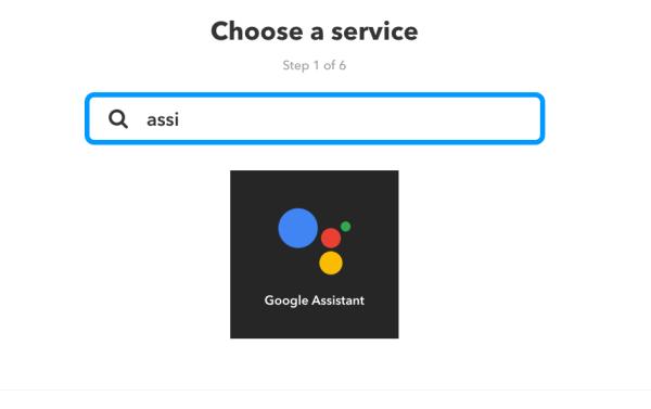 IFTTT: Service Google Assistant