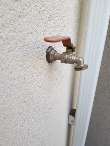 Le robinet extérieur de ma maison