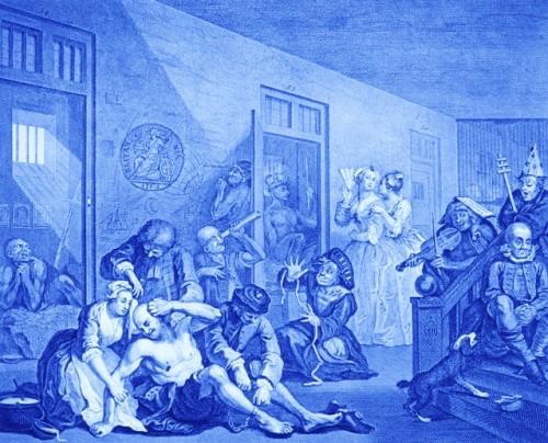 insane asylum The_Rakes_Progress_8-wikipedia-public-domain