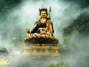 http://commons.wikimedia.org/wiki/File:Guru_Rinpoche_in_mist_2.jpg