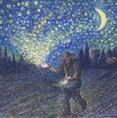http://commons.wikimedia.org/wiki/File:Starlight_sower_(1)_by_artist_HAI_KNAFO_2011_inspired_by_Or_Zaruaa.jpg