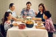 Family eating meal - Wikipedia - Public Domain