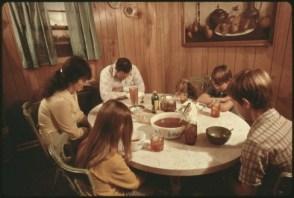 Family Prayer Before Meal - Wikimedia - US-Govt. - Public-Domain