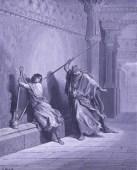 Saul attempts to Kill David - by Gustave Dore - Wikimedia - US Public Domain