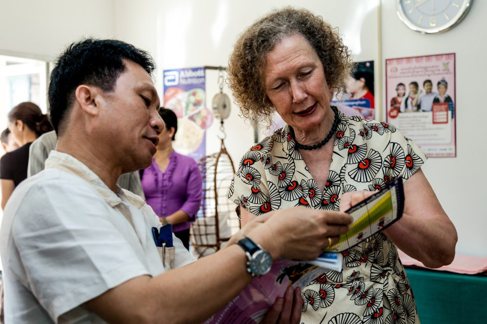 Helen in Lao as it began a HPV demonstration project with Gavi support in 2013.