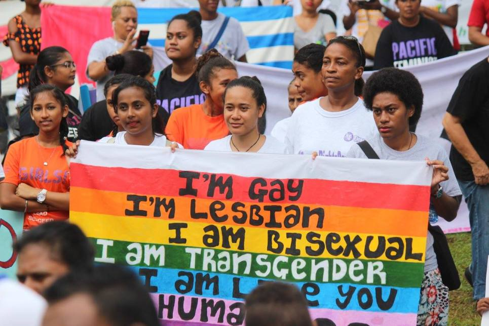 Activists marching through Suva to mark World Human Rights Day, and to call for gender equality. Photo: FWCC Facebook
