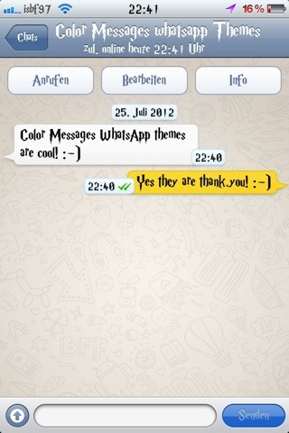 Isbf97 theme : Color Messages WhatsApp Theme (5/5)
