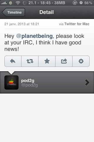 Pod2g thinks he has good news for Planetbeing