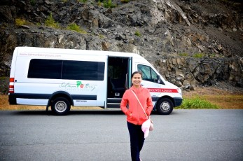 dev and the salmon berry tour bus