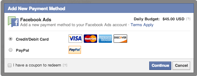 payment for facebook ads Bangladesh