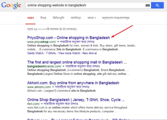 online shopping site seo bangladesh
