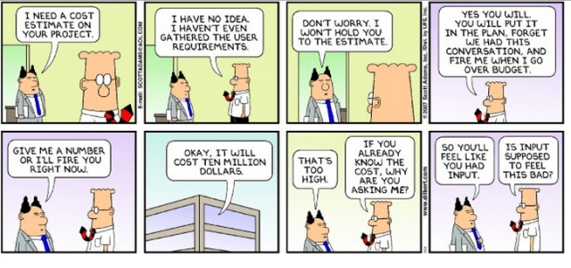 So, what is the true cost of a project? http://dilbert.com/