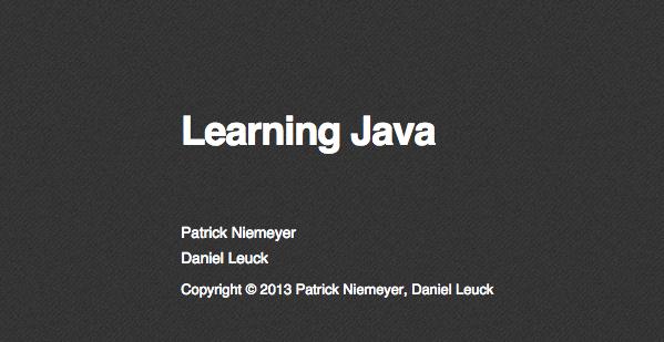 Best free programming books - learning-java
