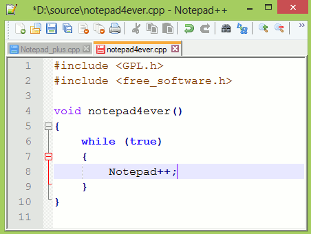 notepad - best HTML editors for web developers