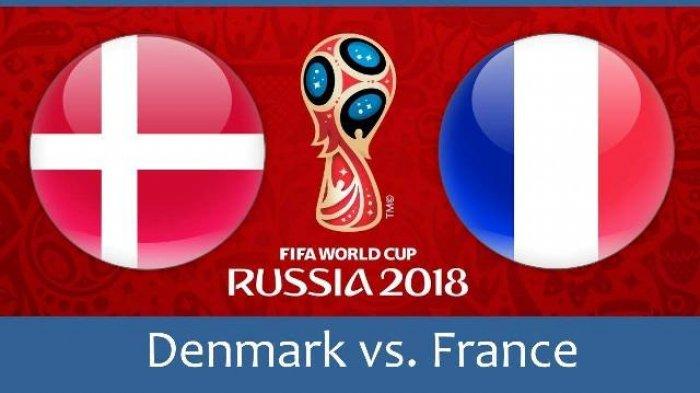 Denmark Vs Prancis di Piala Dunia 2018